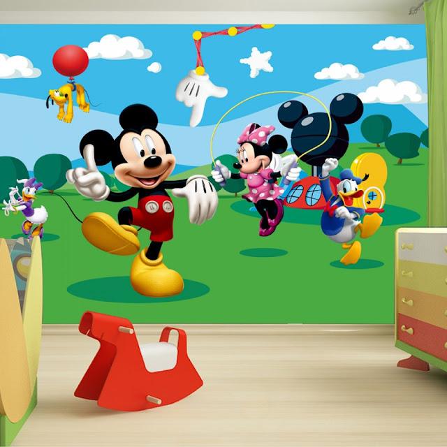 Tapetti Lastenhuoneeseen Disney Mikki hiiri Mickey Mouse Tapetti valokuvatapetti lapsia lasten tapetti lastenhuone tapetti