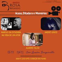"""Rosa Berardo, Fábio Purper, Estúdio Pitombo. """"Marcas da Ditadura na Vida de um Ator""""- Lançamento Cine Lumiére Bougainville, Goiânia, 21-11-2017"""