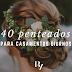 INSPIRE-SE: 40 penteados de noiva para casamentos diurnos