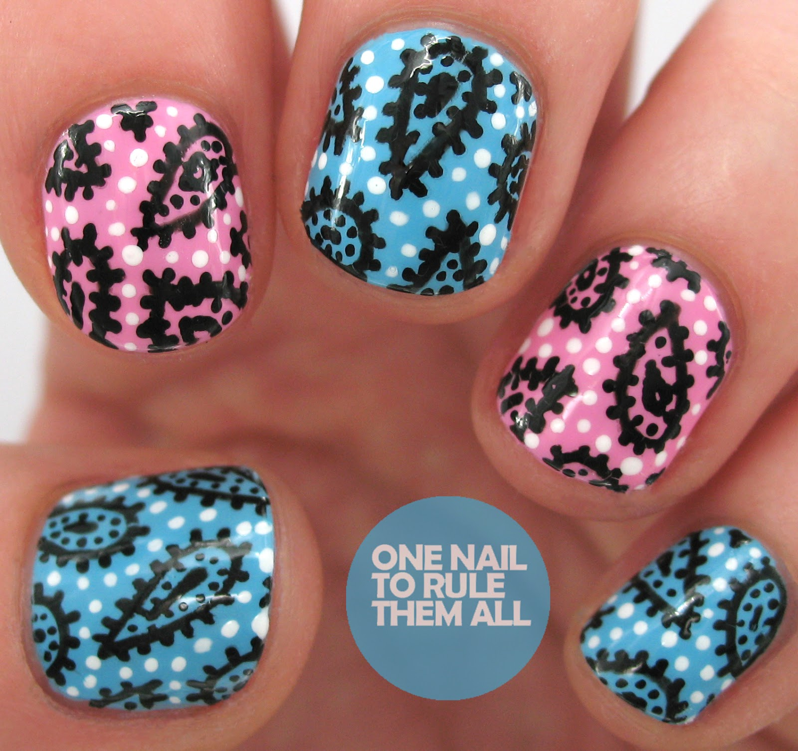 One Nail To Rule Them All: Paisley Pens For Barry M
