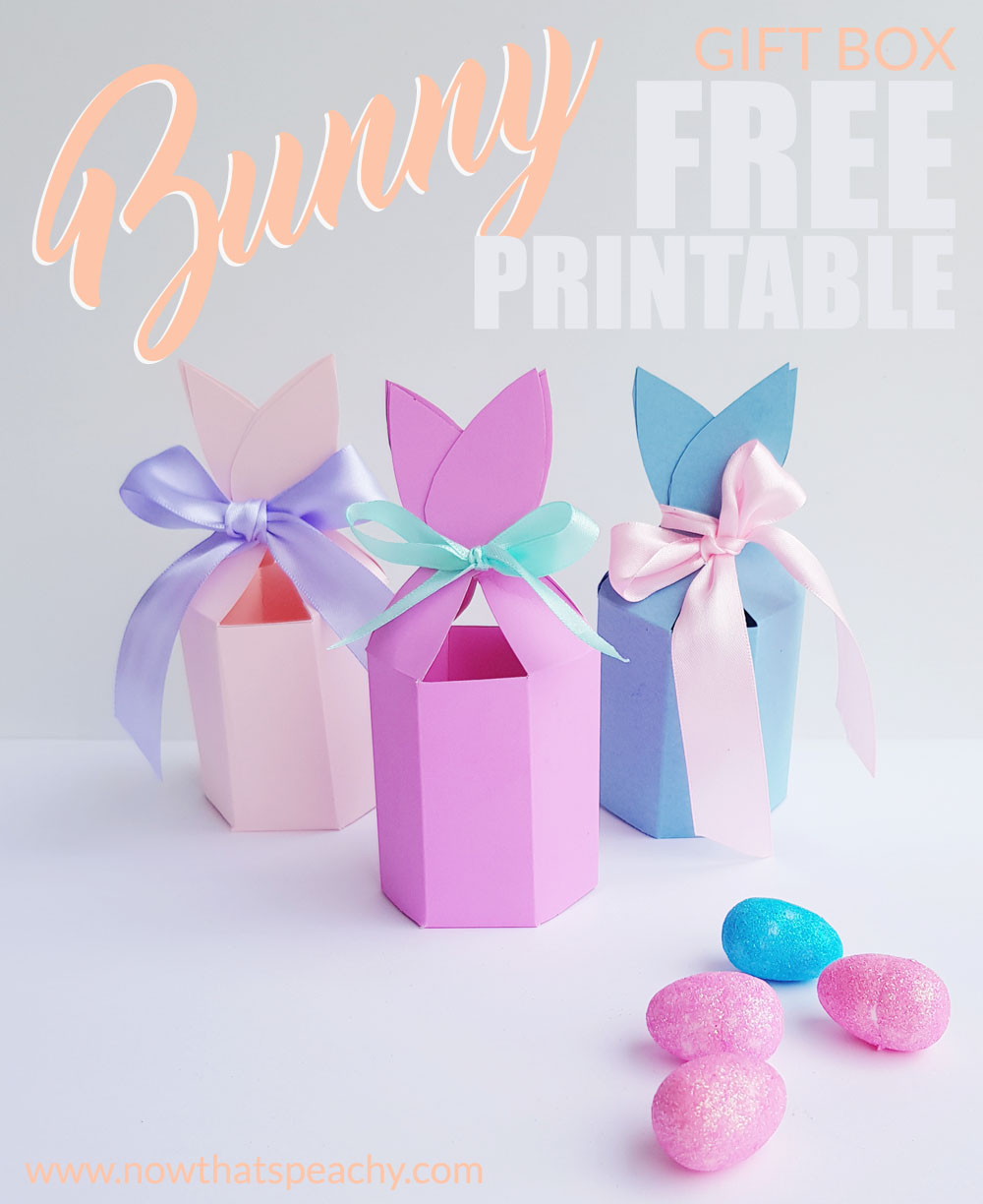 Free bunny ears gift box printable for easter now thats peachy for each easter party guest or the perfect size for small gifts for the kids school friends teacher or work colleagues also a easy craft project for negle Image collections
