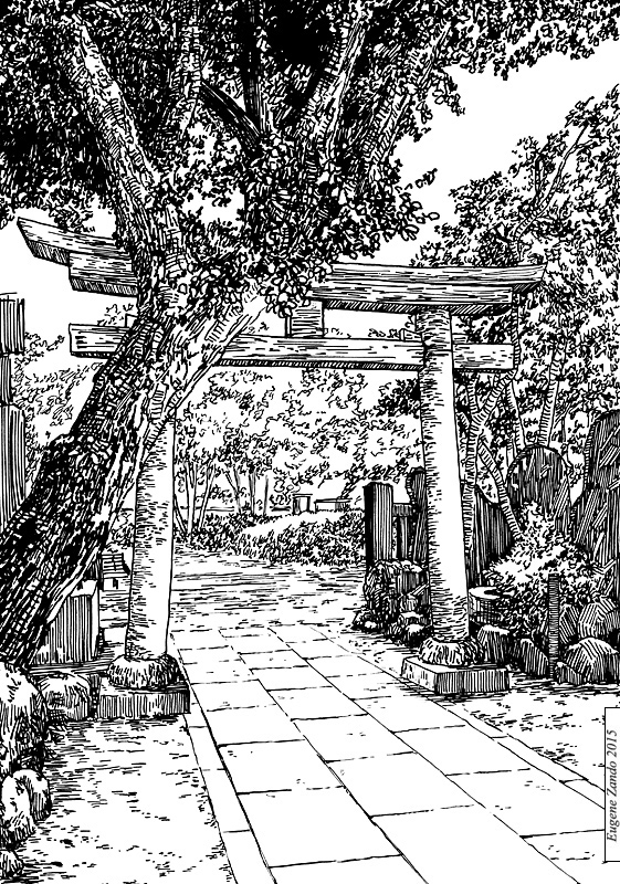 19-Evgenii-Sarychev-Japanese-Urban-Sketch-Drawings-www-designstack-co