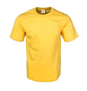 Kaos Polos Eco Soft Kuning