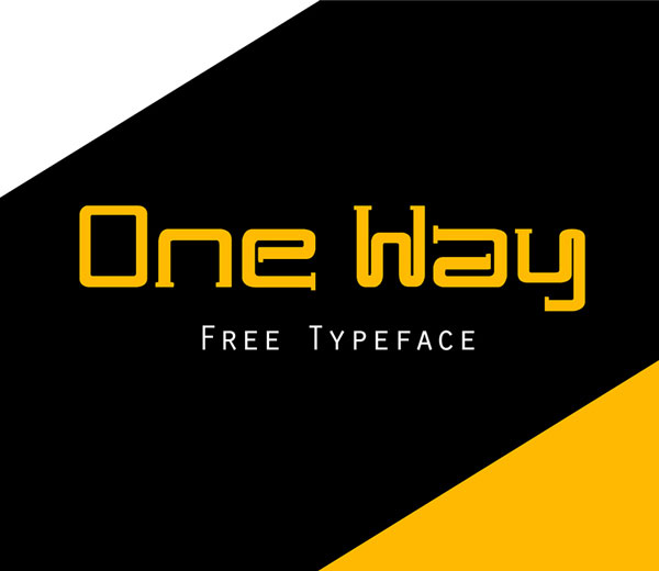 One Way Free Font