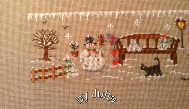 Stoff und Nadel .... Juttas Blog: Wintergartenbank ist fertig gestickt!