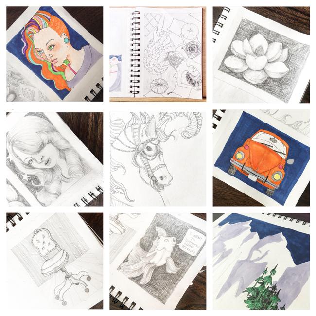 Sketchbook Round-Up: Volume 22 | Yeti Crafts