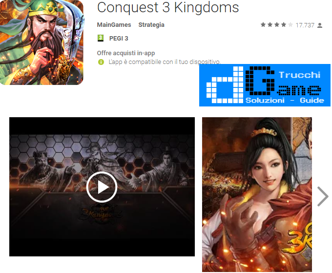 Trucchi Conquest 3 Kingdoms Mod Apk Android v2.8.1