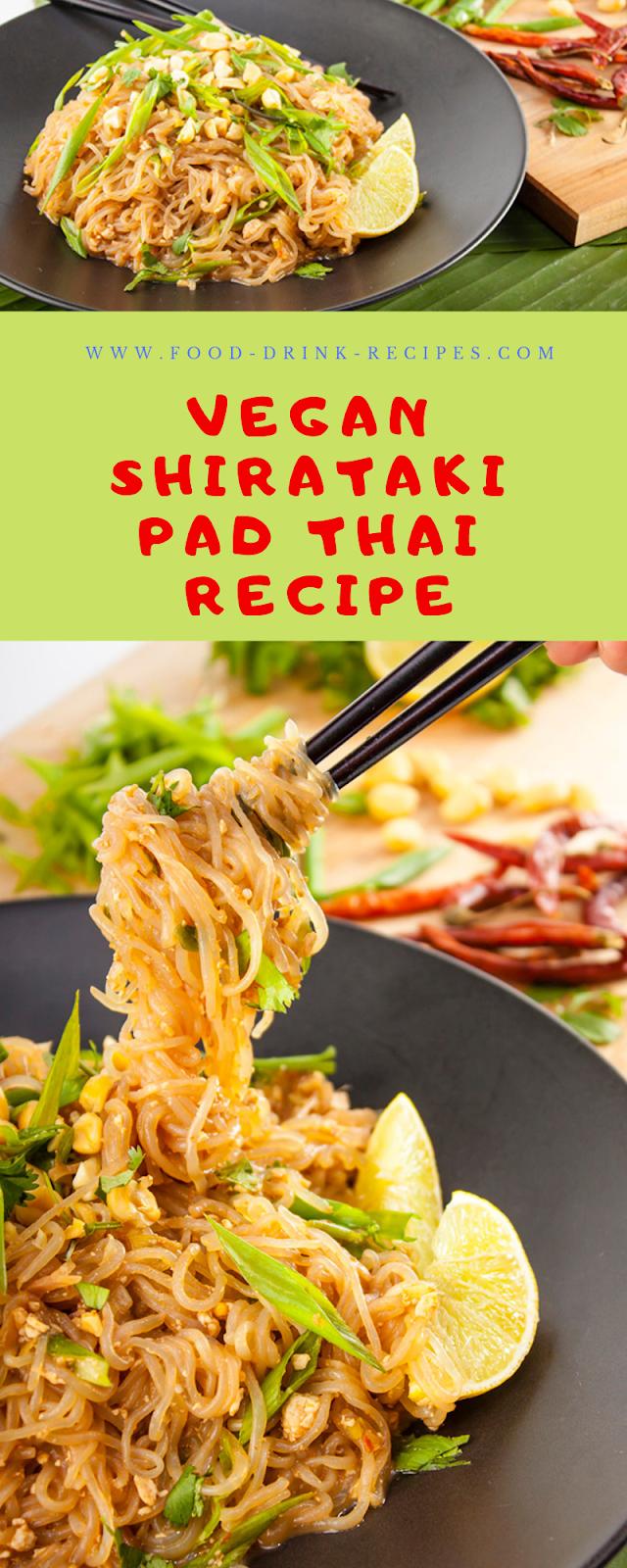 Vegan Shirataki Pad Thai and Miracle Noodle Giveaway