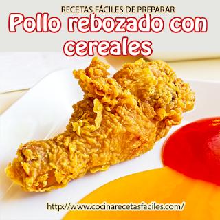 Receta de Pollo rebozado con cereales (nuggets caseros)✅Estos nuggets rebozados en cereales quedan más crujientes, por lo que los niños estarán encantados.