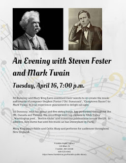 Franklin Library: An Evening with Steven Foster and Mark Twain - April 16