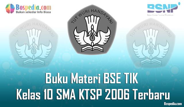 Buku Materi BSE TIK Kelas 10 SMA KTSP 2006 Terbaru