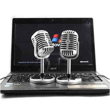 Vintage Karaoke Mikrofon