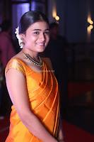 Shalini Pandey in Beautiful Orange Saree Sleeveless Blouse Choli ~  Exclusive Celebrities Galleries 033.JPG