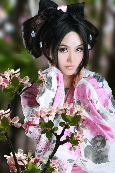 Sexy Hot Japanese Cute Girl Kimono Woman Beautiful -3437