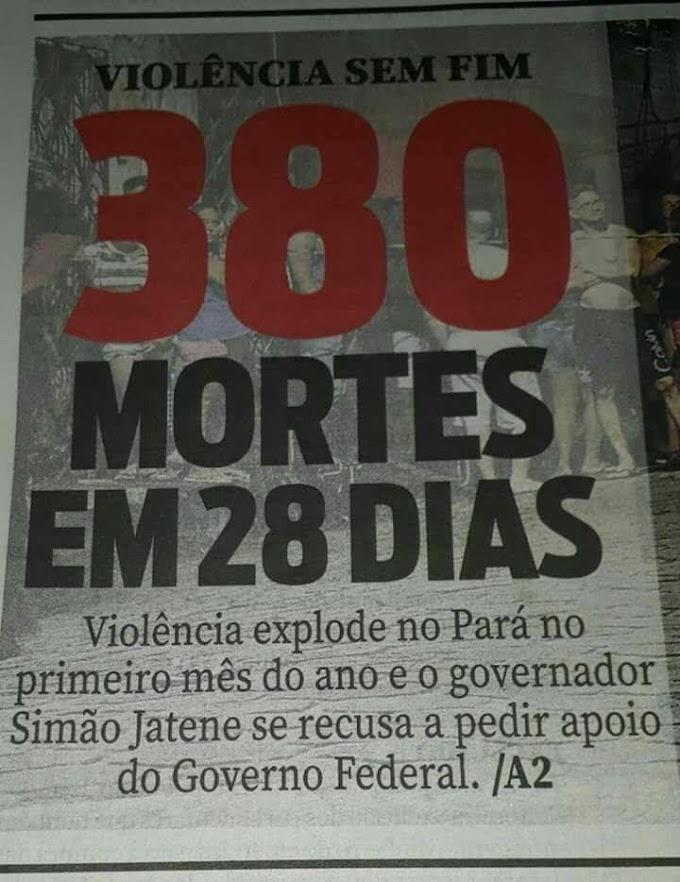 Jornais estaduais destacam a violência sem freio do Pará