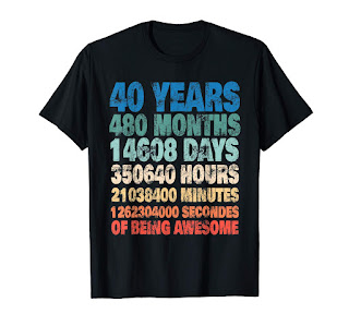 40 Years Old 40th Birthday Vintage Retro T Shirt