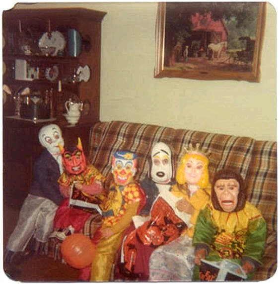 A classic lineup!  sc 1 st  Dishfunctional Designs & Dishfunctional Designs: Vintage Childhood Halloween Costumes from ...