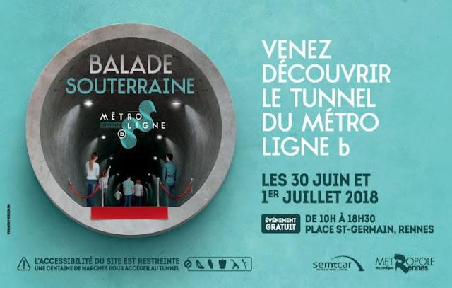 Les 30 juin & 1er juillet, venez découvrir le tunnel de la ligne b du métro entre les stations Sainte-Anne et Saint-Germain !
