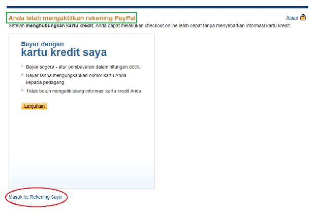 Cara Membuat PayPal Tanpa Kartu Kredit