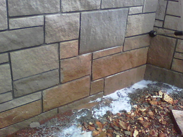Using House Wash And Hot Water Cleaned By Pete Take Off The Red Clay This Light Stone Work