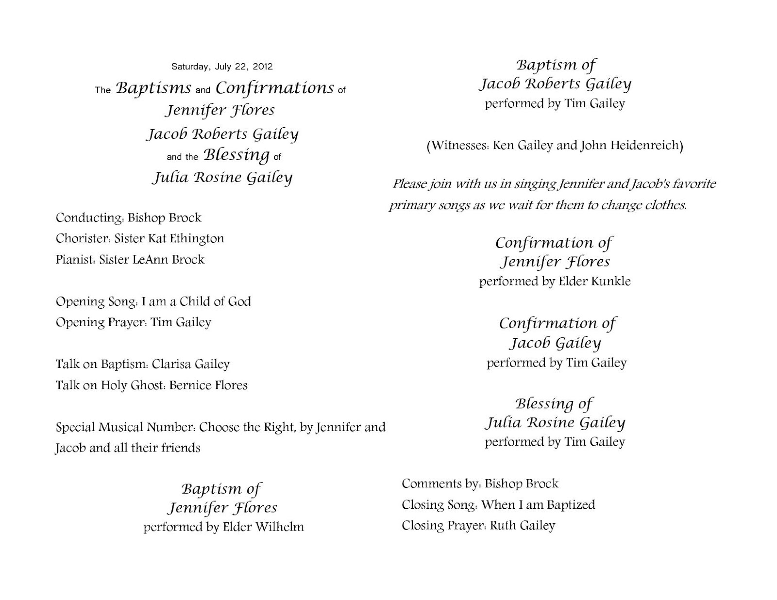 Lds Baptism Program Template. Church House Collection Blog: Easter ...
