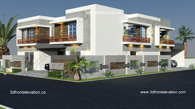 3d front elevation com 15 marla house plan corner house design rh 3dfrontelevation co