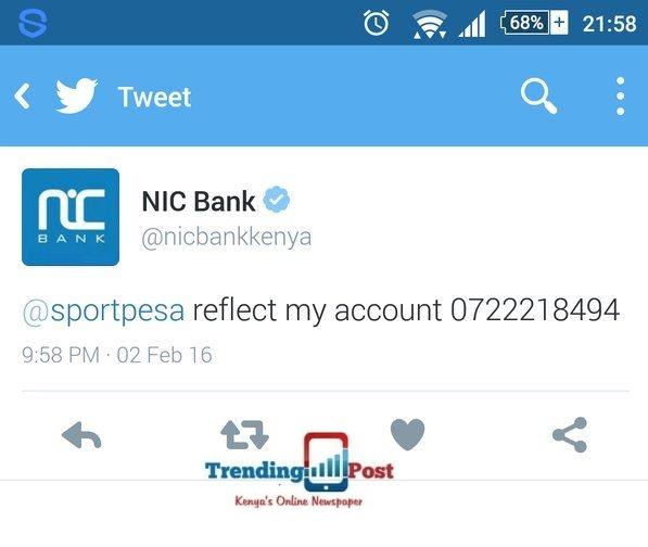 nic bank sportpesa funny screen shot