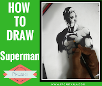how to draw a superman
