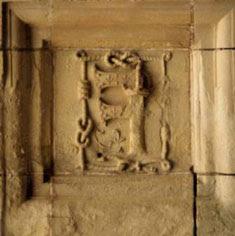 Le caisson en F inversé au château de Chambord.