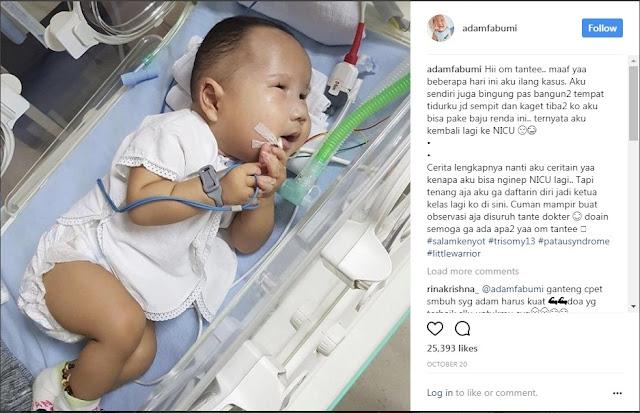 Perjuangan Bayi Dengan Segudang Penyakit Kompleks