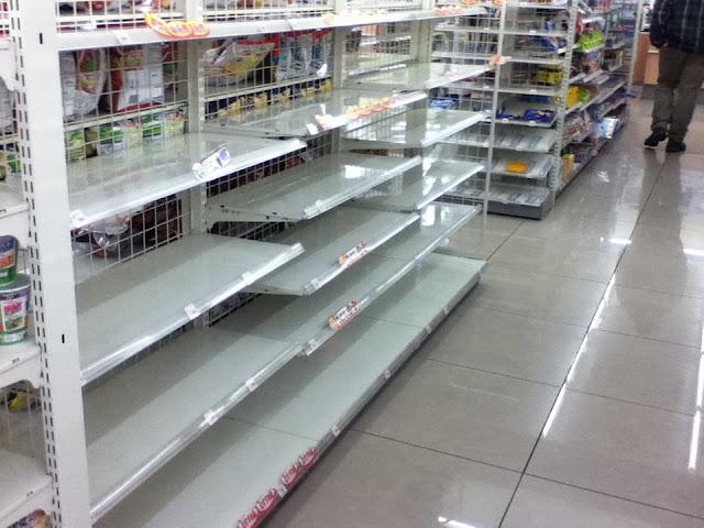 Supermercado en Tokio tras terremoto de Japón