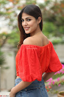 Rhea Chakraborty in Red Crop Top and Denim Shorts Spicy Pics ~  Exclusive 199.JPG