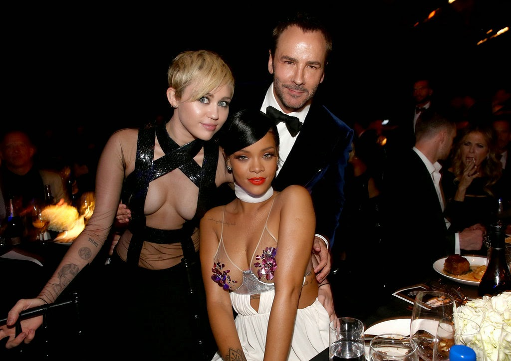 Tom Ford, Miley Cyrus, Rihanna, amfAR Inspiration Gala LA 2014