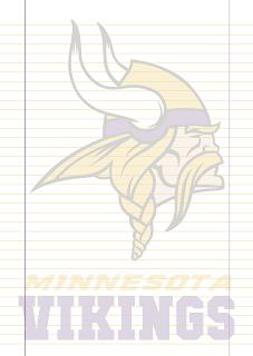 Papel Pautado Minnesota Vikings PDF para imprimir na folha A4