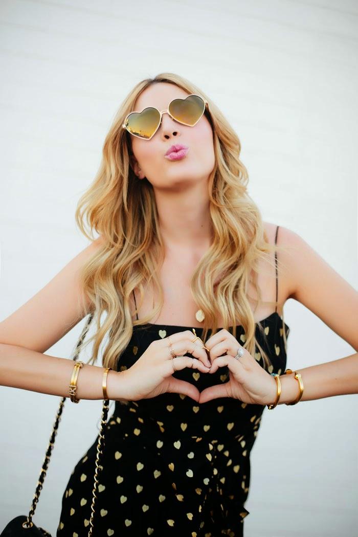 Cute Heart Sunglasses