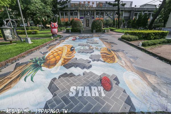 霧峰區公所可愛的3D地景彩繪