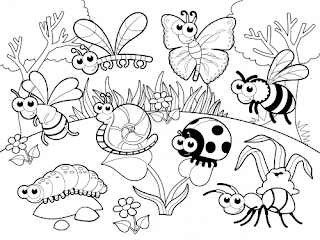 Adorable Insect At Garden Coloring Pages