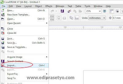 Cara import foto atau gambar bitmap di coreldraw