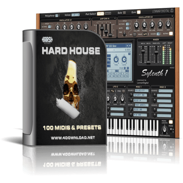 HARSH - Hard House 100 Sylenth1 Presets and Midis