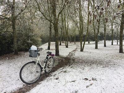 Agroturismo Arkaia. En bici también en la nieve. Vitoria - Gasteiz