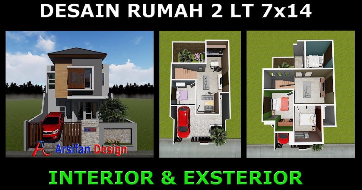 Desain Rumah Minimalis Ukuran 7x14  terpopuler desain rumah minimalis 2 lantai 7 x 14 rumah