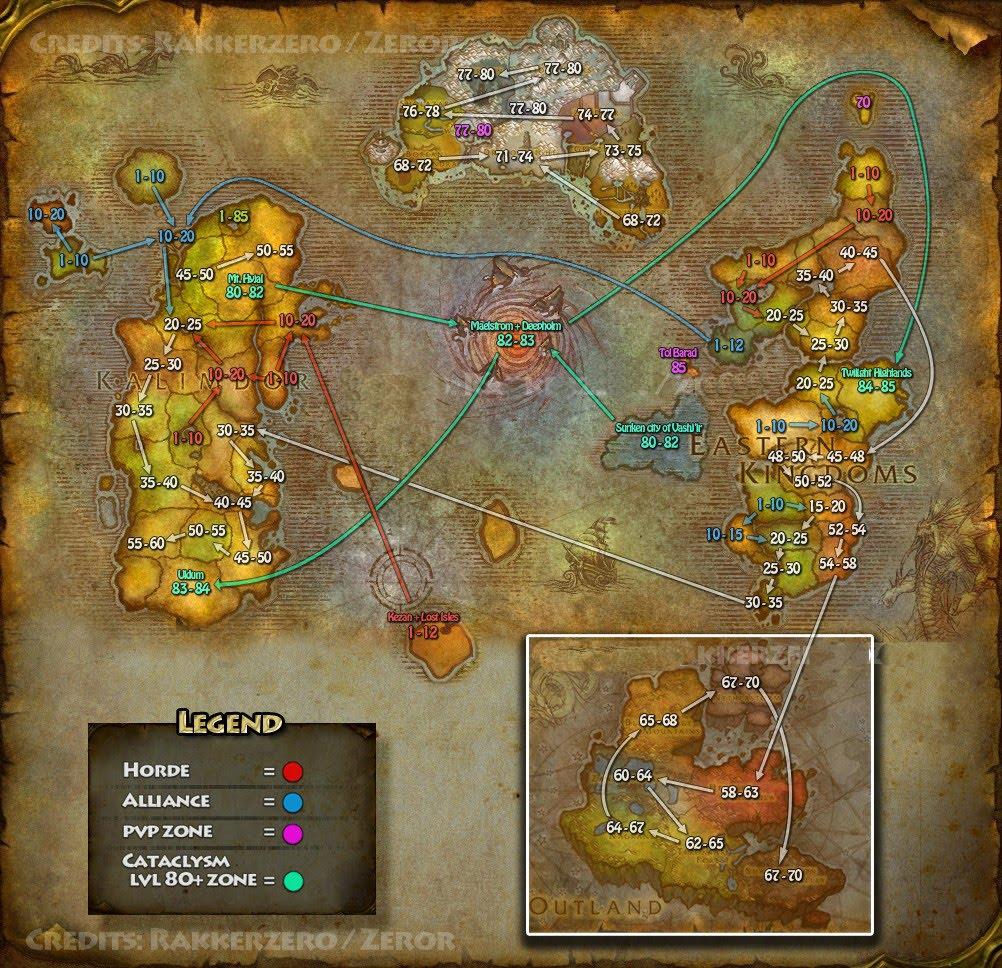 Mapa Reinos Del Este.Blog Del Paladin Xirion Mapa De Leveo Kalimdor Y Reinos Del