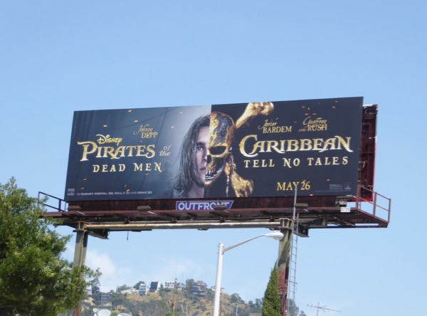 Brenton Thwaites Pirates Caribbean Dead Men billboard