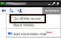 gmail gtalk off the record