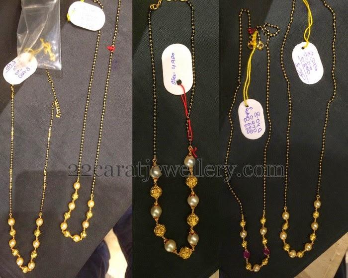 Below 10gms Black Beads Chains Gallery Jewellery Designs