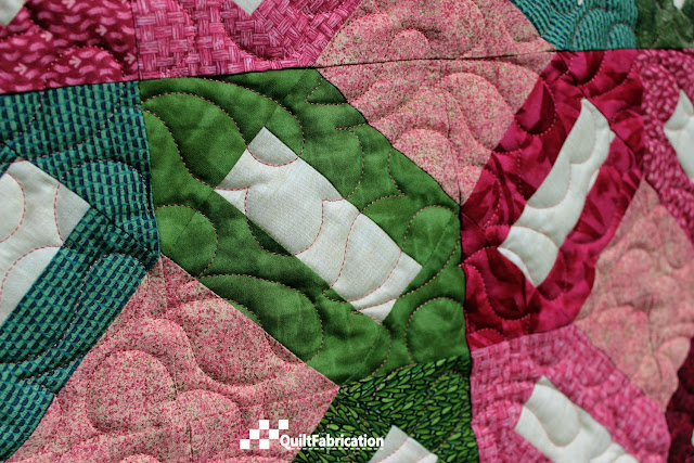 Sitka Rose quilting