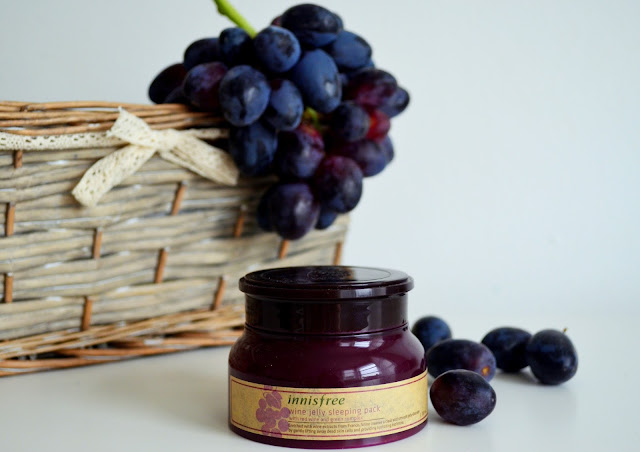 Innisfree wine sleeping mask, wine mask, kbeauty review