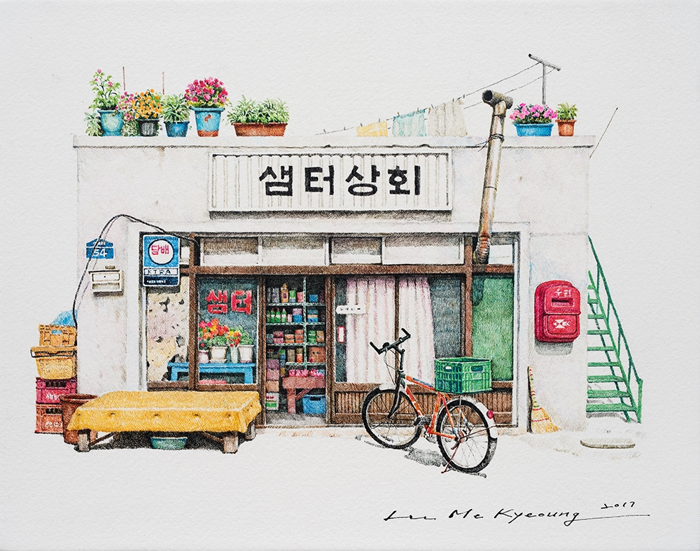 10-Samter-Me-Kyeoung-Leehas-Pencil-Drawings-of-Convenience-Stores-in-South-Korea-www-designstack-co