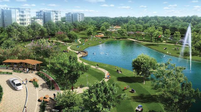 Không gian xanh Louis City Tân Mai