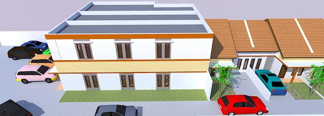 site plan perumahan minimalis